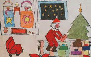 P natale2 - Babbo natale porta i regali ai bambini ...